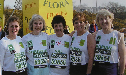Five WI members completed the London Marathon