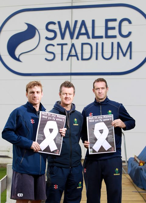 Mark Wallace, Toby Radford %26 Dean Cosker of Glamorgan Cricket
