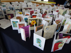 a display of cards made at Denman