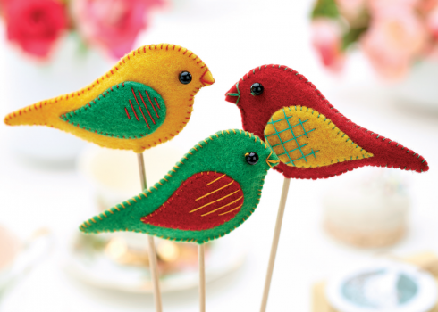 Felt bird decorations