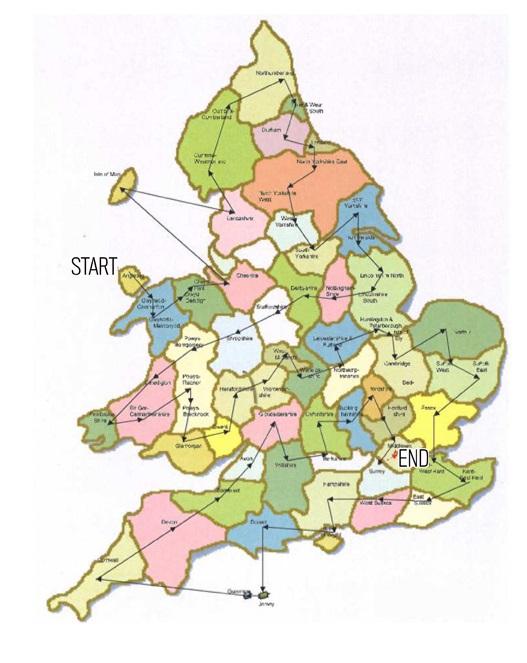 Centenary baton map