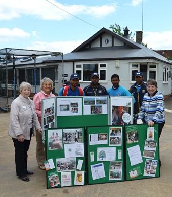 Members with Sri Lankan team members