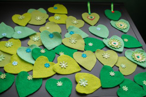 Sir Gar/Carmarthenshire green hearts