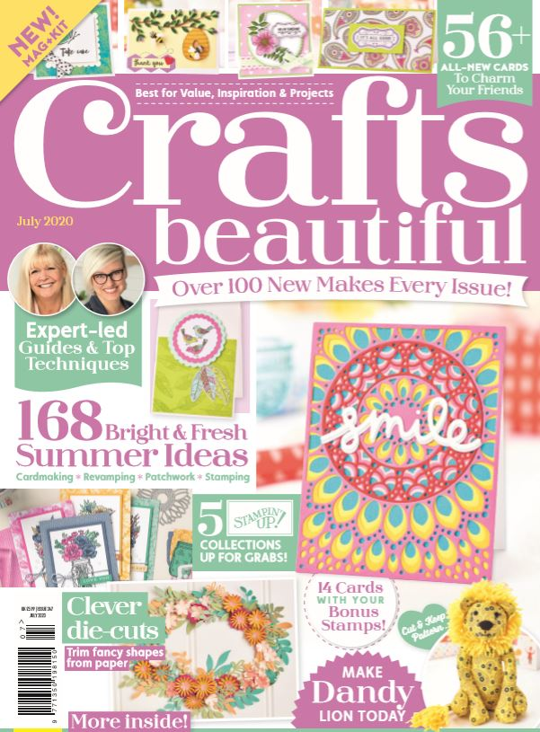 Cover of the crafts beautiful magazine june 2020 issue