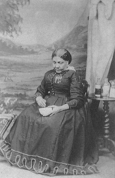 Historic black and white image of Mary Seacole